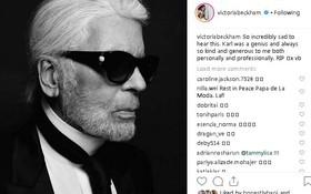 Karl Lagerfeld qua đời, Victoria Beckham, Gigi, Bella Hadid và loạt sao thế giới bày tỏ niềm thương tiếc với huyền thoại thời trang
