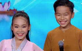 """Cặp đôi nhí Việt Nam khiến các giám khảo """"Asia's Got Talent"""" cười tít mắt vì quá đáng yêu"""
