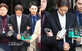 NÓNG: Công bố hình ảnh Jung Joon Young bị trói chặt 2 bên, còng tay giải đến trại giam để chờ lệnh bắt