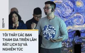 """Diễn giả tại triển lãm Van Gogh ở VCCA: """"Tôi thấy các bạn tham gia rất lịch sự và nghiêm túc, hiếm trường hợp nào như một số người nói"""""""