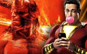 """""""Quỷ đỏ"""" Hellboy ra mắt hụt hơi, không đủ sức địch lại """"thánh lầy"""" Shazam"""