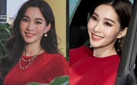 Tưởng đâu mặc đồ đỏ là may mắn, ai ngờ HH Đặng Thu Thảo cả 2 lần mặc đều mắc lỗi make up khiến gương mặt nhìn dữ hẳn