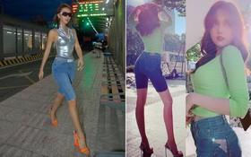 Thử sức với kiểu street style của Quỳnh Anh Shyn, Ngọc Trinh trông lạ kỳ chẳng thể nhận ra