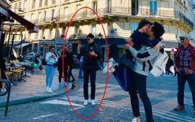 Trấn Thành và Hari Won khoá môi nhau đắm đuối giữa đường phố Paris nhưng Trịnh Thăng Bình mới là tâm điểm chú ý