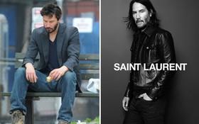 """Không còn là """"tài tử chán đời"""", Keanu Reeves giờ đã là gương mặt đại diện """"chất như nước cất"""" của Saint Laurent"""
