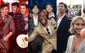 """Sao thế giới phát cuồng vì BTS tại BBMAs: Tài tử """"Avengers"""" mê mẩn, anh em Jonas và dàn sao háo hức như fangirl"""