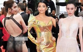 Cannes ngày 5: Ngọc Trinh gây choáng toàn tập với trang phục đốt mắt bên dàn mỹ nhân váy xuyên thấu, xẻ cao nóng bỏng
