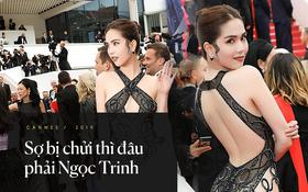 """Ngọc Trinh lên tiếng khi bị chỉ trích phản cảm trên thảm đỏ Cannes: """"Tôi là nữ hoàng nội y, mặc vậy là bình thường"""""""