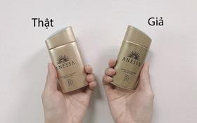 """Clip: Dùng thử kem chống nắng Anessa thật và giả để thấy """"của rẻ đúng là của ôi"""""""