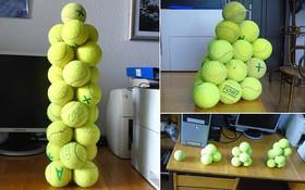 Không cần keo hay hồ dán, nhà vật lý vẫn dựng được cả tòa tháp bóng tennis bằng một thứ chúng ta vẫn tiếp xúc mỗi ngày