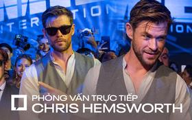 """Phỏng vấn trực tiếp """"Thần sấm"""" Chris Hemsworth: Muốn bứng Black Widow và Hulk đóng chung Men in Black, con gái là fan cứng Wonder Woman!"""