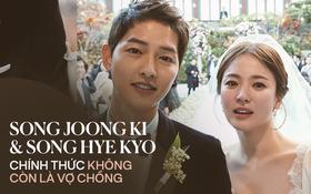 NÓNG: Tòa chính thức tuyên bố Song Joong Ki và Song Hye Kyo không còn là vợ chồng sau 1 năm 8 tháng kết hôn