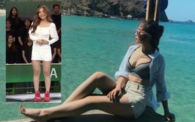 Bạn gái Quang Hải đích thị là điển hình của hội con gái: Hình tự up thì chân dài mét mốt, hình bị chụp mét mốt chia đôi