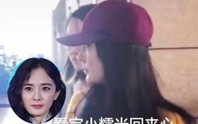 Dương Mịch lặng lẽ về Hong Kong nhưng thái độ khi thăm con gái Tiểu Gạo Nếp của cô gây tranh cãi