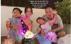 Phạm Quỳnh Anh và Quang Huy bất ngờ tái ngộ chung 1 khung hình, vui vẻ cùng đón Trung Thu bên 2 con gái