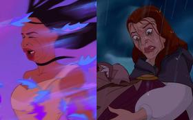 Một cơn mưa đi qua để lại dàn công chúa Disney trôi sạch bách lớp trang điểm, cười muốn nội thương với mặt mộc của Lọ Lem!