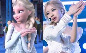 """Tóc vàng xinh đẹp như tiên tử, chẳng trách Rosé """"cân"""" hết cả dàn công chúa Disney khiến ai ngắm cũng mê"""