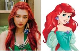 """Nhờ stylist quá """"lậm"""" phim hoạt hình, Joy (Red Velvet) bỗng dưng trở thành công chúa Disney đời thực tới gần chục lần"""