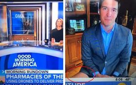 """""""Giấu đầu hở đuôi"""": Phóng viên Mỹ gặp sự cố tai hại ngay trên sóng truyền hình trực tiếp khi bị soi đang... không mặc quần"""