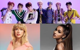 Kết quả Kid's Choice Awards 2020: BTS chia giải với Taylor Swift, còn Ariana Grande bỏ xa các đàn chị Katy Perry, Selena Gomez, Beyoncé...