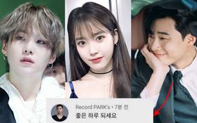 """Park Seo Joon bất ngờ bình luận ở teaser MV của IU - Suga (BTS), mối quan hệ """"dây mơ rễ má"""" của cả 3 gây chú ý lớn"""