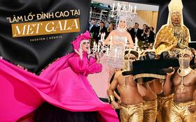 """Met Gala hay """"mặt trận làm lố"""" đỉnh cao: Lady Gaga thay đồ """"tại trận"""", Cardi B vác cặp nhũ hoa 12 tỷ nhưng tất cả đều chào thua nam nhân nằm kiệu"""