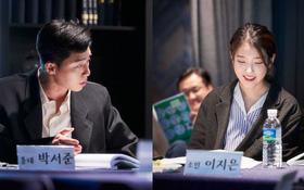 """Park Seo Joon cực bảnh cạnh """"em gái quốc dân"""" IU như đôi tiên đồng ngọc nữ ở buổi đọc kịch bản, chưa gì đã thấy hot!"""
