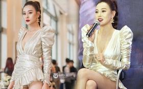 """Nhìn bộ váy ngắn """"nhạy cảm"""" của Phương Oanh """"Quỳnh Búp Bê"""" mới thấy êkip Việt nên học hỏi người Hàn ở khoản tinh tế"""