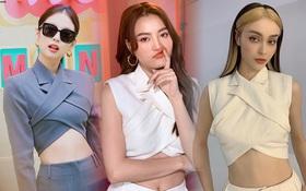 """Bộ """"suit Jennie"""" đi đâu cũng gặp ở Vbiz lúc này: Lan Ngọc, Tóc Tiên đều diện, riêng MLee """"sao y bản chính"""" cả kiểu tóc"""