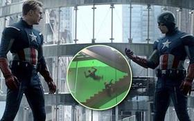 """Thót tim clip hậu trường ENDGAME mới tiết lộ màn """"té lầu"""" suýt vỡ đầu của Captain America"""