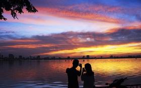 Chùm ảnh: Hoàng hôn tím đỏ trên hồ Tây những buổi chiều mùa hạ - điều đáng giá của những đợt nắng nóng đổ lửa là đây chứ đâu!