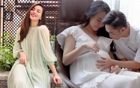 """Hà Hồ và Đàm Thu Trang dù """"khắc"""" ở chuyện tình duyên nhưng lại hết sức tâm đầu ý hợp ở khoản áo váy khi bầu bí"""