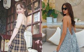 """Street style sao Việt: Cùng khoe lưng thon gợi cảm, Miu Lê trẻ trung nhưng vẫn thua Hà Tăng ở khoản hững hờ """"buông lơi"""""""