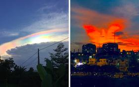 Liên tiếp xuất hiện những bầu trời huyền ảo ở Việt Nam trong năm 2020, rực rỡ nhất là hình ảnh phượng hoàng lửa cất cánh