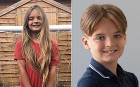 """Có mái tóc dài đáng mơ ước như """"công chúa tóc mây"""", cậu bé 9 tuổi lần đầu tiên cắt đi vì mục đích đặc biệt và cực kỳ ý nghĩa"""