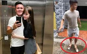 Quang Hải xỏ sandal của bạn gái, nhìn kì cục nhưng khiến Huỳnh Anh không nhịn được cười