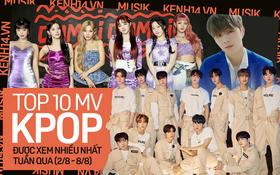 10 MV Kpop được xem nhiều nhất tuần: BLACKPINK bị hạ bệ bởi (G)I-DLE, Kang Daniel và tân binh khủng long nhà YG chiếm thứ hạng cao