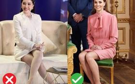 Cách ngồi khi diện váy ngắn: Bảo Thy, Hương Giang suýt hớ hênh, kỹ năng thượng thừa phải kể đến Công nương Diana