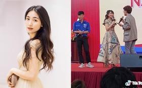 """Nam sinh ngại chín mặt vì quên lời bài hát của Hòa Minzy, nữ ca sĩ liền ra tay """"chữa cháy"""" siêu hài hước"""