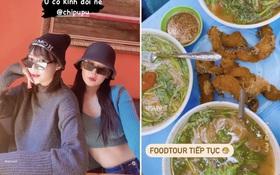 """""""Bắt quả tang"""" Chi Pu check in ở hàng bún cá chửi tại Hà Nội: đúng là đồ ăn ngon thì chẳng ai có thể chối từ!"""