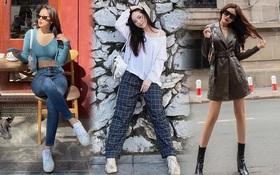"""Instagram look của sao Việt tuần qua: Chi Pu """"quẩy"""" skinny jeans ít ai mặc, Quỳnh Kool cố tình diện đồ lộ dây áo"""