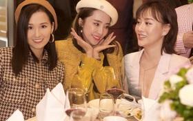 Phương Oanh lấp ló vòng 1 căng đầy, Quỳnh Nga - Lã Thanh Huyền rạng rỡ đọ sắc cùng Phanh Lee tại đám cưới MC Thu Hoài