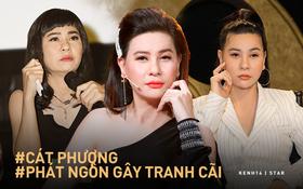 """4 lần Cát Phượng """"vạ miệng"""" trên MXH: Phản pháo NSND Việt Anh, gây phẫn nộ khi nói về Minh Béo và lời thề liên quan đến An Nguy"""