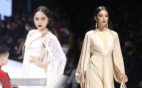 HOT: Hương Giang tái xuất sau scandal bằng màn catwalk thần thái, cùng Tiểu Vy làm vedette cho NTK Adrian Anh Tuấn tại AVIFW 2020
