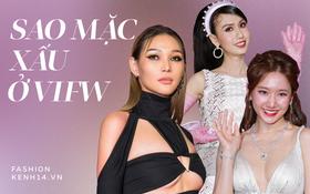 """Loạt sao diện style """"hỏi chấm"""" tại Fashion Week: Diệp Linh Châu """"huỷ diệt"""" vòng 1, Hari Won makeup lem nhem còn Lynk Lee mặc gì thế này?"""
