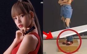 Đằng sau ảnh quảng cáo triệu like của Lisa (BLACKPINK) là khung cảnh không ai ngờ tới, kéo xuống đôi chân mà ngã ngửa