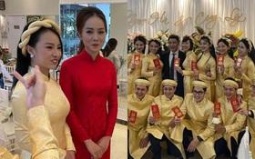Lễ ăn hỏi NS Công Lý: Tân lang tân nương tươi như hoa, Quỳnh Kool - Kim Oanh làm phù dâu