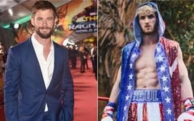 """Sau trận đại chiến với Floyd Mayweather, YouTuber Logan Paul tính xử đẹp """"Thần sấm"""" Chris Hemsworth"""
