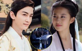 """Lộ ảnh hôn của Lưu Diệc Phi - Trần Hiểu ở phim cổ trang mới, nhìn cứ tưởng Cô Long - Dương Quá tái hợp ở """"vũ trụ"""" khác á!"""
