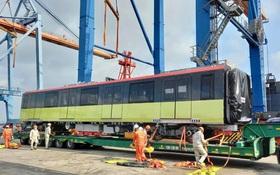 Đoàn tàu Metro thứ 3 của dự án đường sắt đô thị đoạn Nhổn - Ga Hà Nội đã về đến Việt Nam trong ngày đầu năm Tân Sửu